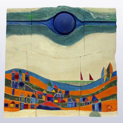 """""""Landschaft II"""", 50 cm x 50 cm"""