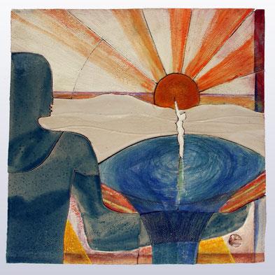 """Sonnengesang I"", 48 cm x 49 cm"