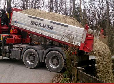Oberauer Transporte Nußdorf, Naturbaustoffe Lager Urstall 176