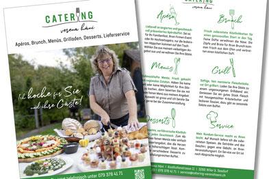 Flyer von dickesdesign für catering verena häni