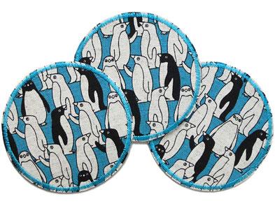Bild: Pinguin Applikation Hosenflicken Patch zum aufbügeln für Kinder petrol