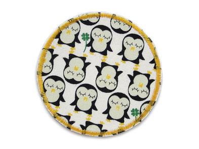Bild: Pinguin Applikation Hosenflicken Patch zum aufbügeln für Kinder creme