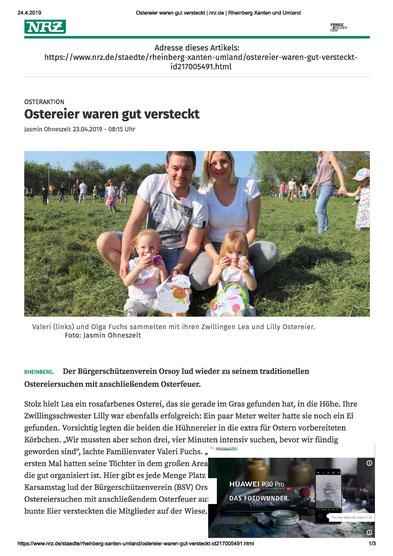 Ostereier suchen, Osterfeuer 2019, Orsoy,