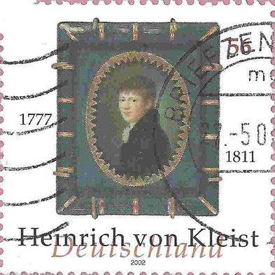 Deutsche Kleist-Briefmarke von 2002