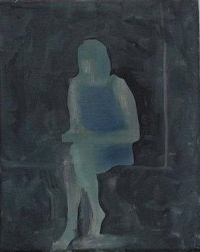 Am Fenster 3, Öl/Leinwand, 40 x 50 cm, 2018