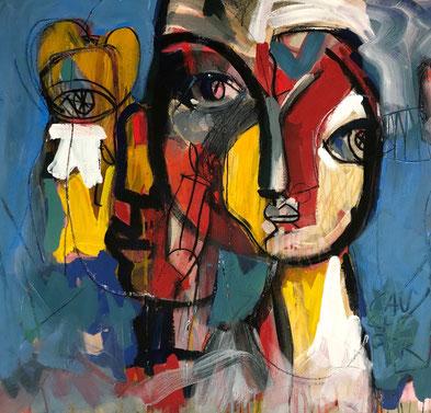 - Fusion et confusion  -  Acrylique/toile - Collection privée Toulouse  -  Janvier 2020 90/97cm
