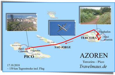 Flug von Terceira nach Pico (20 min)