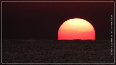 Sonnenuntergang: Petra tou Romiou (Aphrodites Geburtsplatz)