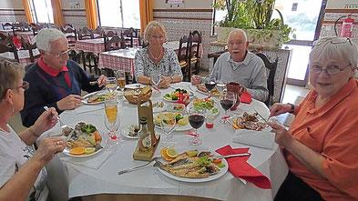 Wir bleiben unserem Prinzip treu und genießen die portugiesische Küche!