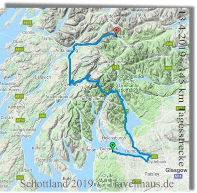 13.4.2019 - 145 km Tagesstrecke