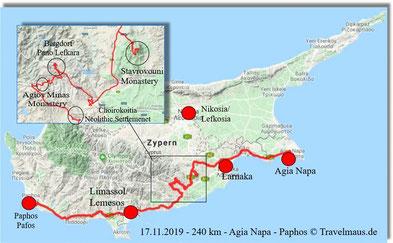 240 km Tagesstrecke von Ost nach West