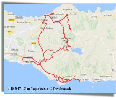 85 km Tagesstrecke; Von der Südinsel zur Nordinsel und zurück.