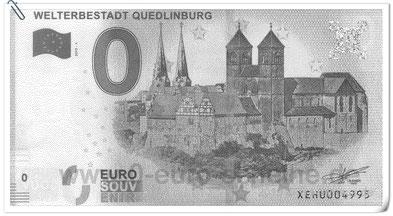 Gestern entdeckt: 0 Euroschein Welterbestadt Quedlinburg ( in Original rosa)
