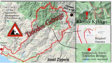 Tagestour Troodosgebirge 175 km