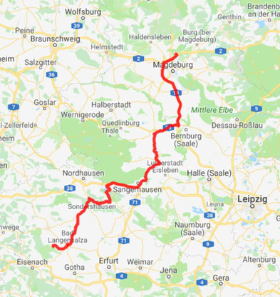 Magdeburg - Bad Langensalza - 230 km