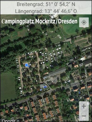 Campingplatz Mockritz/Dresden, 4 km bis zum Zentrum