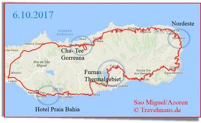 155 km Tagestour: Hotel-Furnas (Thermalgebiet)-Nordeste (Mittagsmenu) -Gorreana (Teeanbau)-Lagoa-Hotel