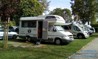 Wir sind in Dresden angekommen und stehen auf dem Campingplatz Mockritz.