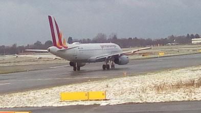 Abflug Düsseldorf - 1°C - mit Schnee - Flugzeit < 3 Stunden