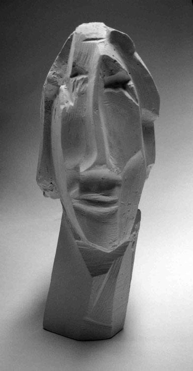 """Trauernder"", 2006, Gips, Höhe ca 25 cm, Privat Berlin"