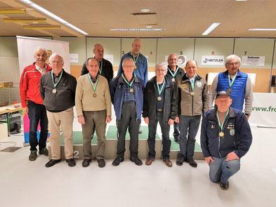Siegerehrung LM Senioren 3, 4.v.r. Georg Macek