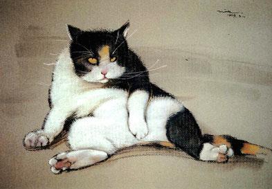 猫 猫衆 パステル画 パステル画教室 ノラ
