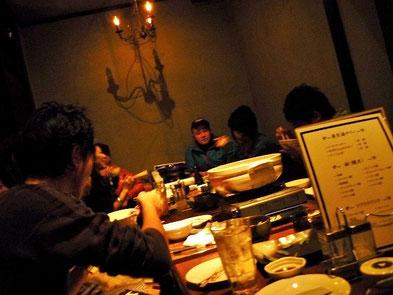 アツアツの鍋と串カツ、そして絵心コンテストで盛り上がりました!
