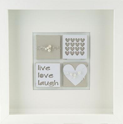 Wandbild Herz Dekoration Wanddekoration Love