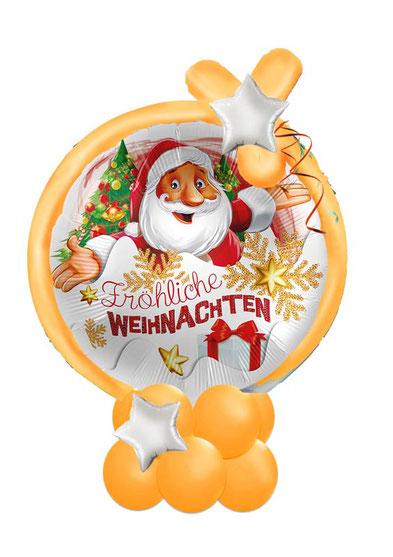 Ballon Luftballon Heliumballon Deko Dekoration Überraschung Mitbringsel Box  aus der Ballongruß Versand verschicken Weihnachten rot gold luxury Geschenk Idee Ballonpost Stern elegant  Bouquet Heliumballons Fröhliche Weihnachten