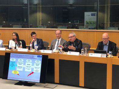 """Professor von Eiff in the European Parliament, speaking about """"Effective HAI Prevention"""""""