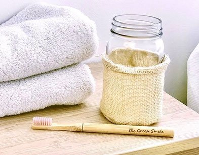 brosse à dents en bambou rechargeable