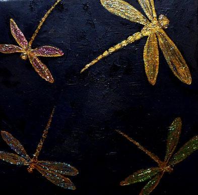 Funkelnd, Öl auf Leinwand, 20x20 cm, 110 €