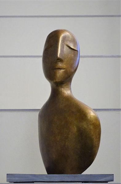 Heidrun Feistner: Engel der Geschichte / Für Paul Klee / Bronzefassung / Exemplar 1/5 / 29 cm / 2019 / Foto Eva Rothkirch