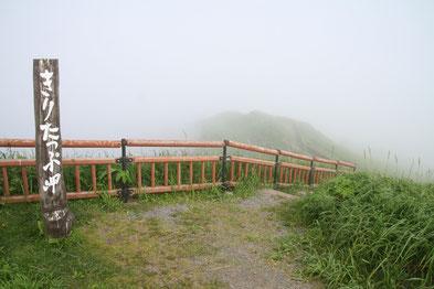 霧多布岬先端への道