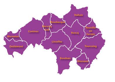 Les communes de la vallée de la Lys et du Ferrain