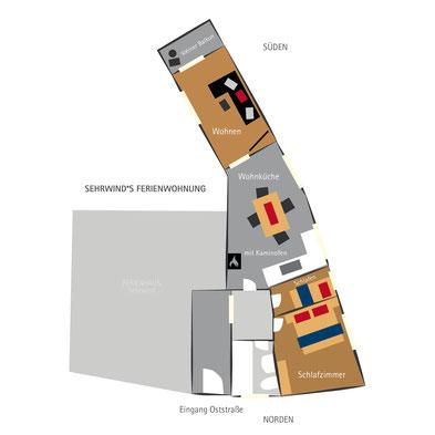 Sehrwind s Ferienwohnung –Grundriss, Ferienwohnung Oberstdorf, 60 qm