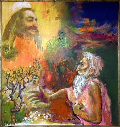 """Moses Conversing with God at the Close of an Age""  43"" X 45"" : Courtesy of Steve Cain"