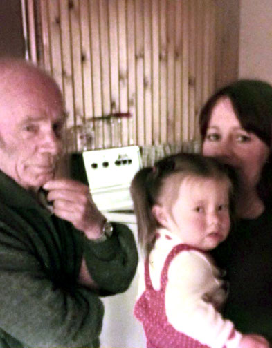Raine with her daughter Freinetta and Francis Brabazon.  Courtesy of Rainy Day Designs