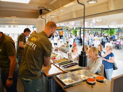 Verkaufsstand Terrasse Gastronomie