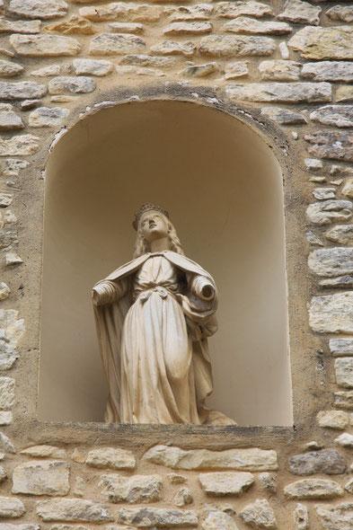 Bild: Madonna am Kirchturm in Crestet