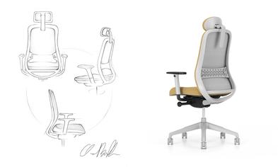 Bürostuhl Skizze Stuhl-Baukasten