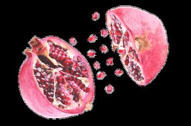 offener Granatapfel
