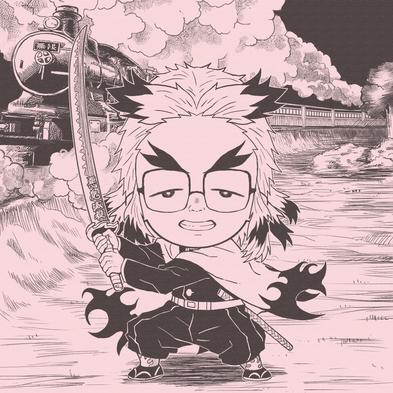 煉獄杏寿郎に扮する田中。秒で鬼に負けます。笑