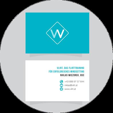 Kath Visual, Vlirt das Flirttraining, Printdesign, Branding, Logo, Visitenkarte