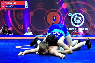 Der Russe Umarov war noch eine Nummer zu groß und gewann gegen Jakob.