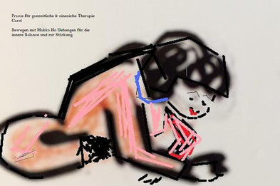 Makko Ho Uebung. www.med-praxis-carol.ch Alternativmedizin Qi gong Shitatsu Carol Petrig Bewegungen Wohlbefinden Dreifacherwärmernubung Uebung für den Herzmeridian Komplementärtherapie EMR  Shitausu Qi gong Gesundheit  Praxis Carol Naturheilpraktiken Yoga