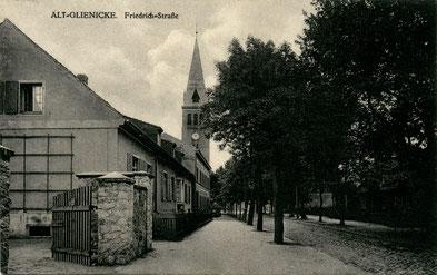 Alt-Glienicke bei Berlin. Friedrichstraße, vermutlich Mitte der 20er Jahre (Bild: BVA)