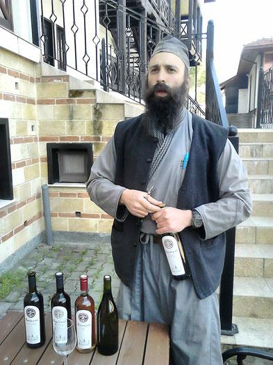 Vin vignes monastère Serbie Danube