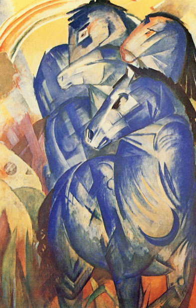 Franz Marc (1880-1916) • Turm der blauen Pferde (1913) • verschollen