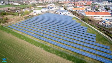 Solarpark Osthofen. (Foto: Air-Drone-Pictures)